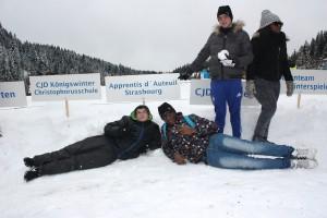 les adolescents aux jeux d'hiver