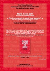 invitation recto table ronde jeunesse 2017